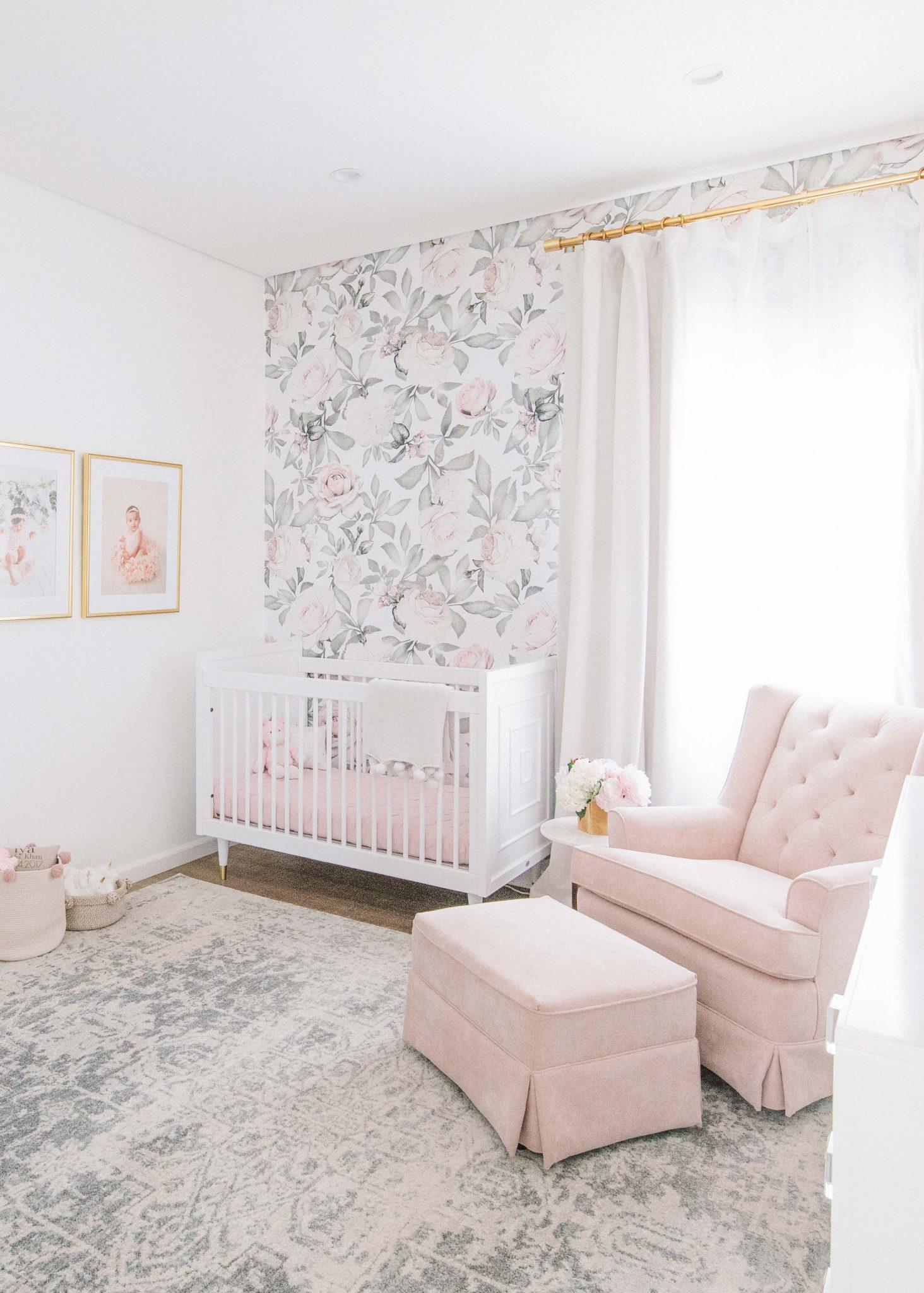 Blush and gold nursery