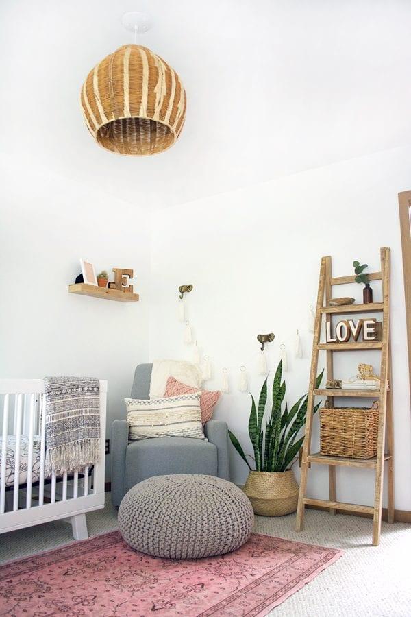 Boho girl nursery