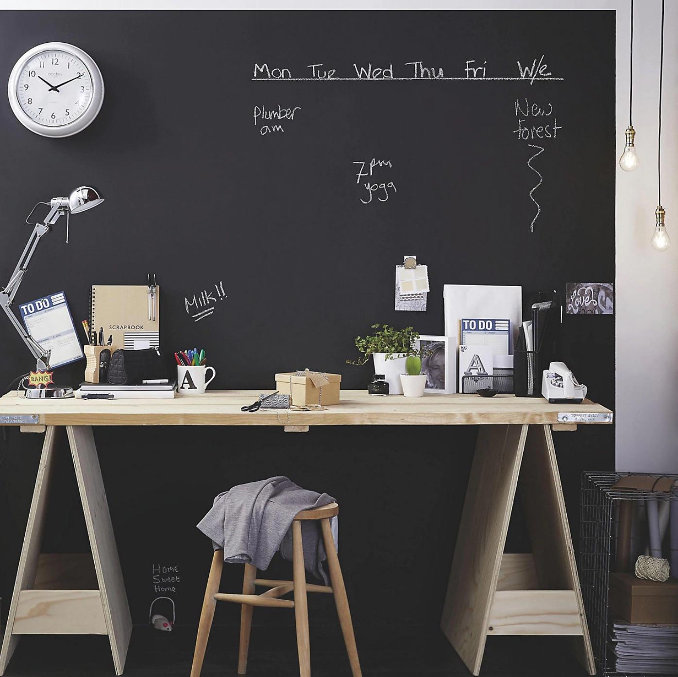 Chalkboard feature wall