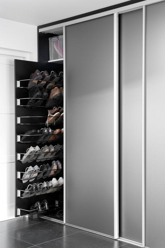 custom built ins for shoe storage