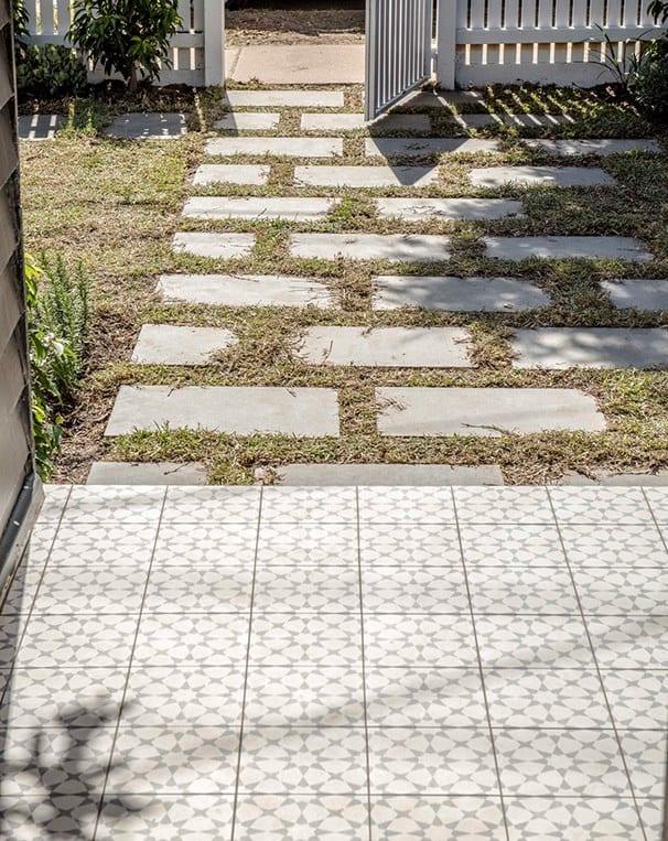 Decorative porch tiles