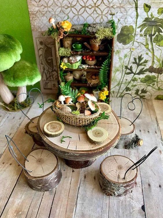 fairy garden kitchen