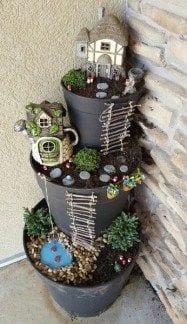 flowerpots fairy garden