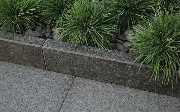 Granite garden edging