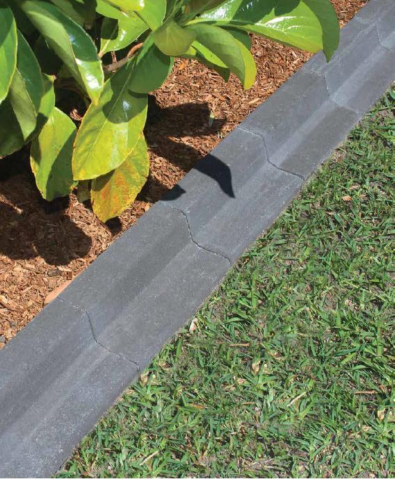 Graphite garden edging