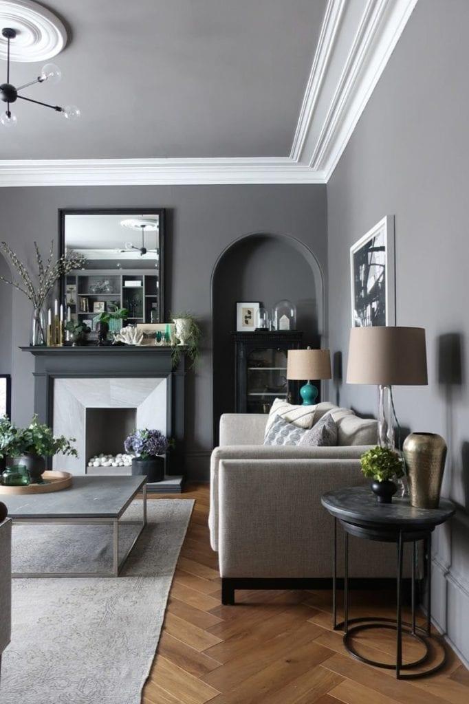 35+ Gorgeous grey living room ideas - paint colours ...