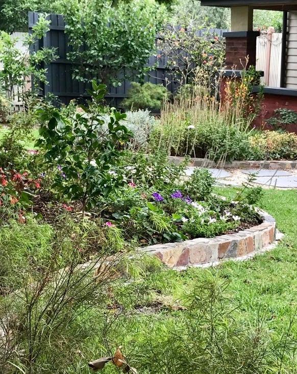 Marble garden edging