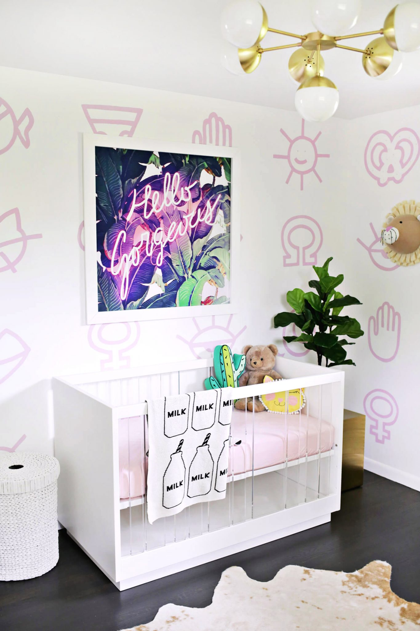 Neon pink nursery