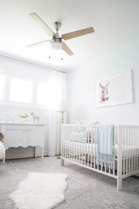 Soft pale blue nursery