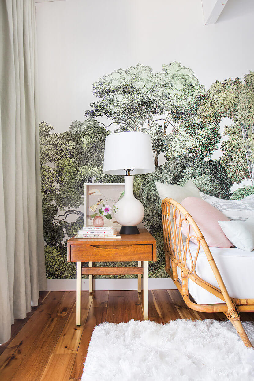 Tree mural feature wall