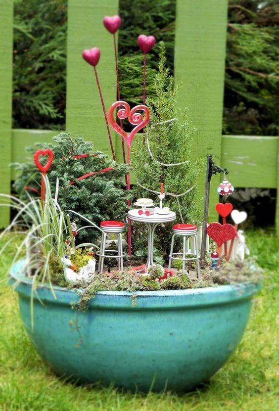 valentines day fairy garden