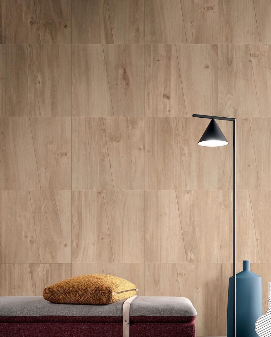 Natural wood wall