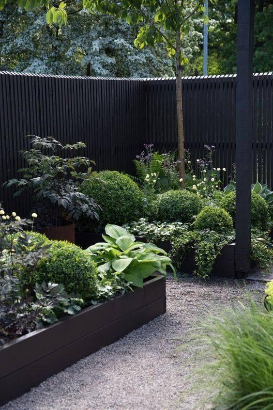 black garden gravel