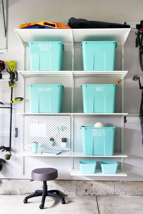 diy light blue containers