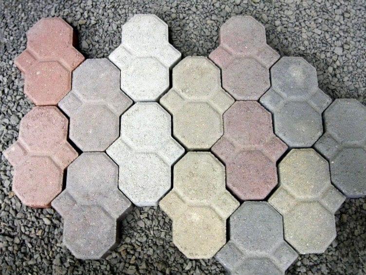 pastel concrete pavers