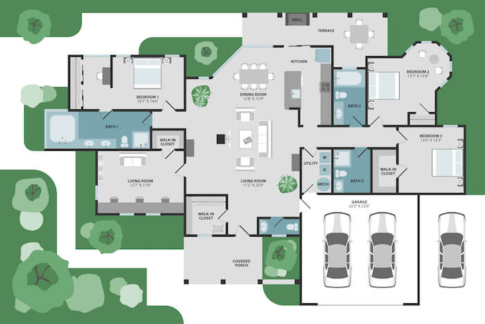40+ Modern House Designs - Floor Plans And Small House Ideas