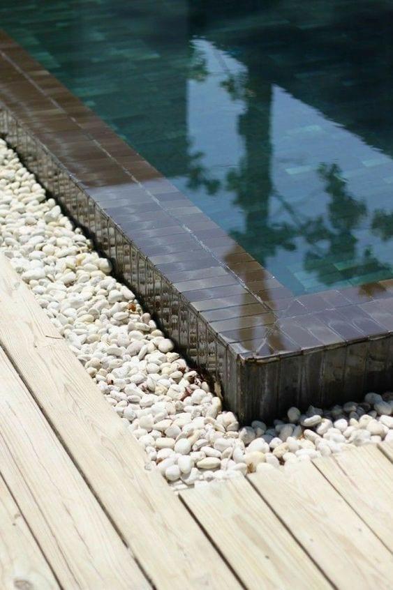 white stone pool edging