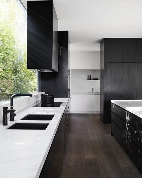 Black kitchen