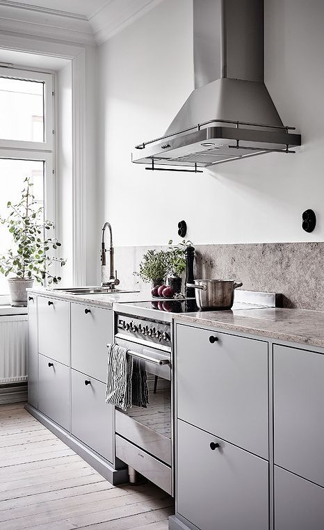 space grey cabinets