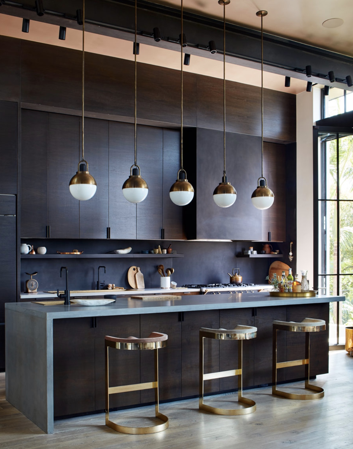 glam kitchen with gold