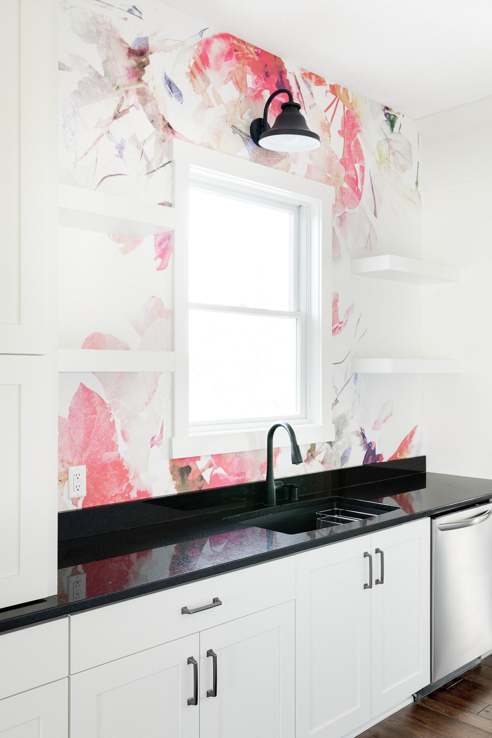 Pink butler's pantry
