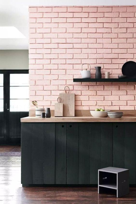faux pink brick