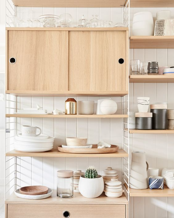 light warm cabinetry