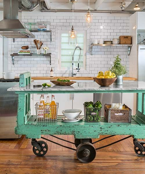 pale green trolley