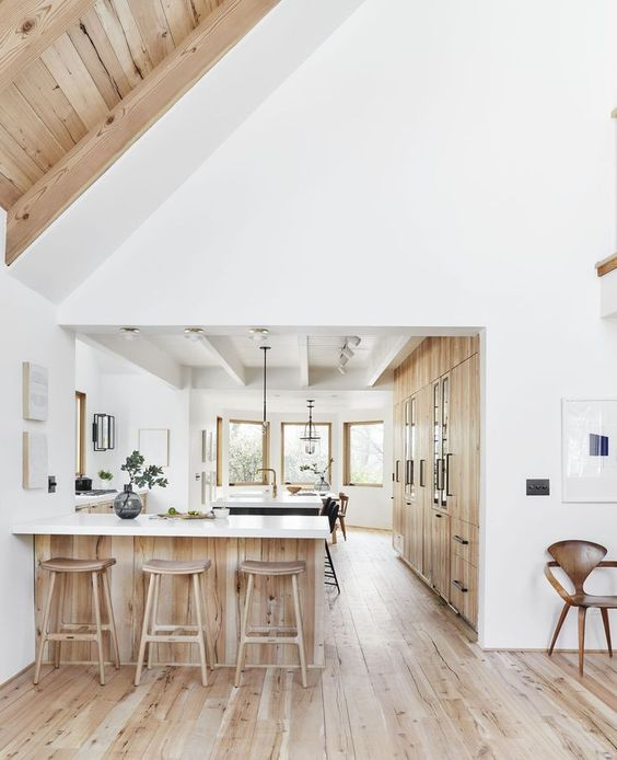 white with light timber
