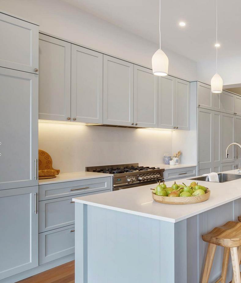 Light blue kitchen