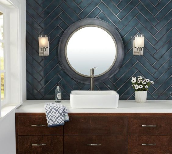 antique blue bathroom color