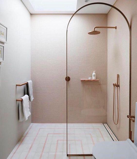 arched shower frame