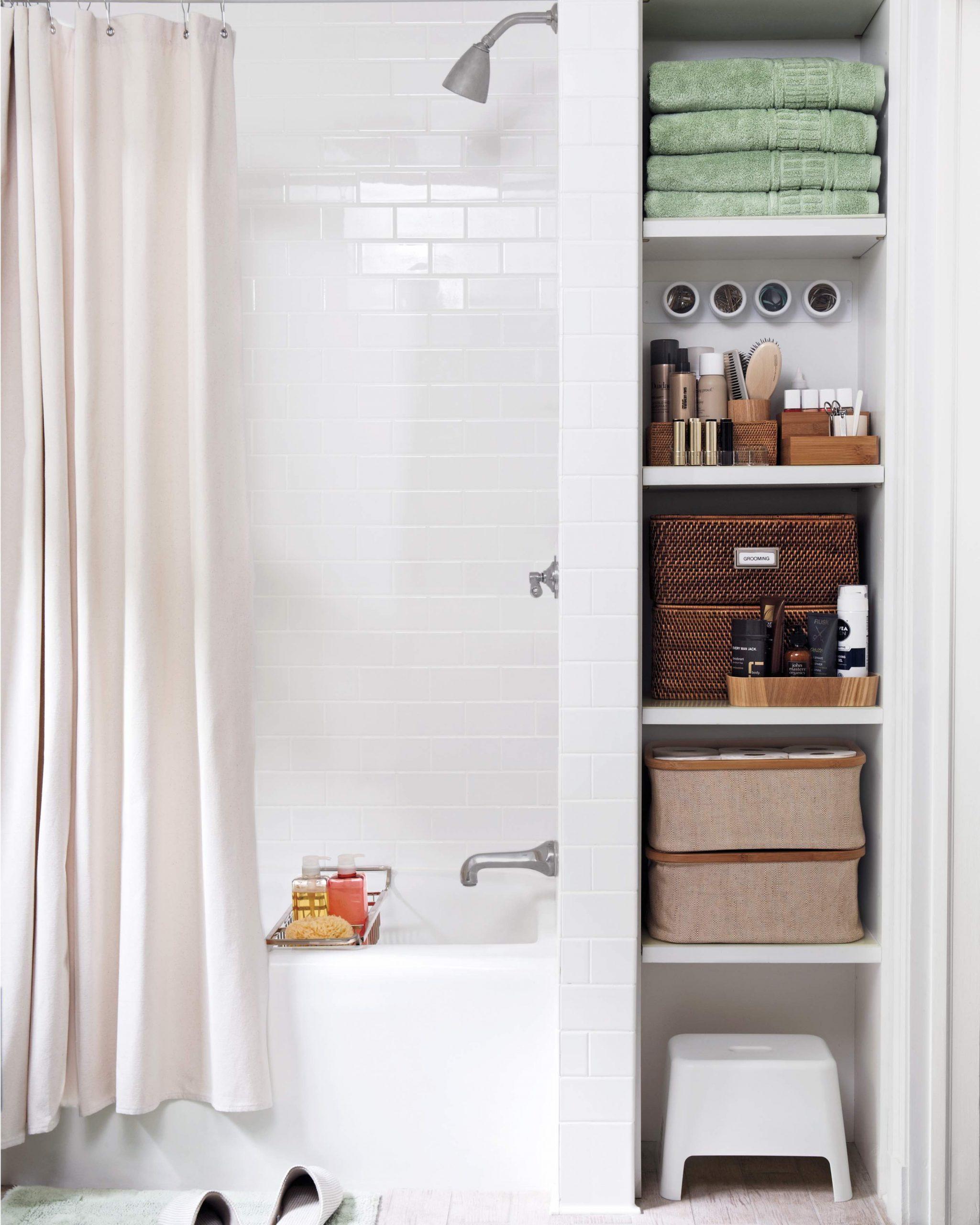 35 Bathroom Storage Ideas Vanity Cupboards Baskets And More
