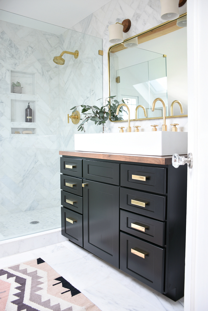 Black brass bathroom