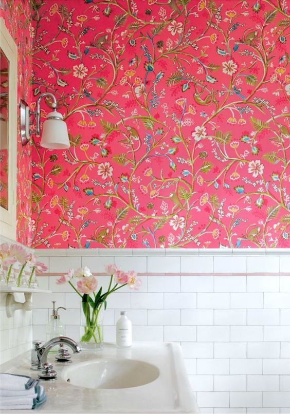candy pink floral