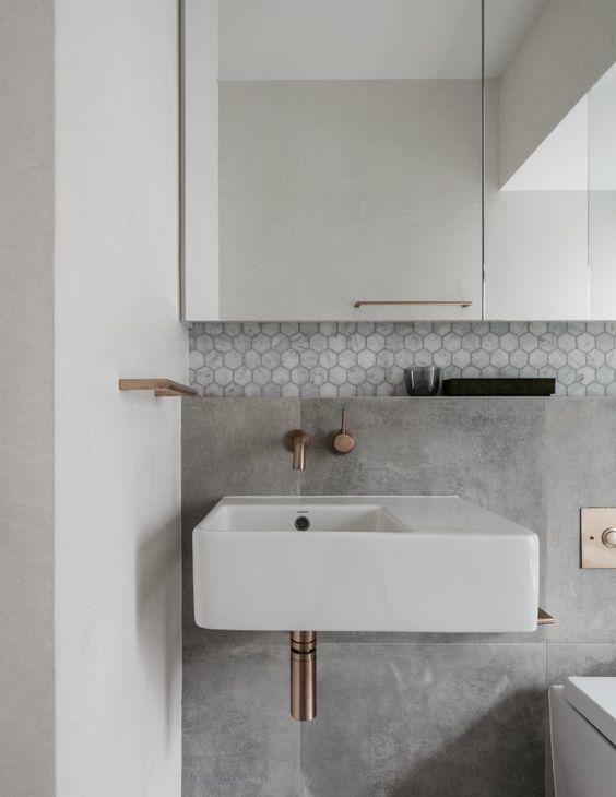 concrete brass tile
