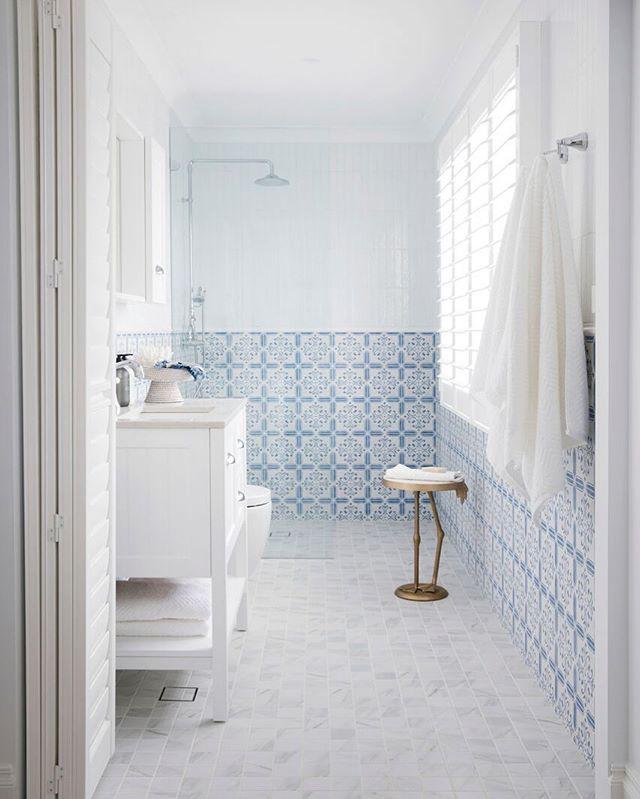 encaustic tile in shower