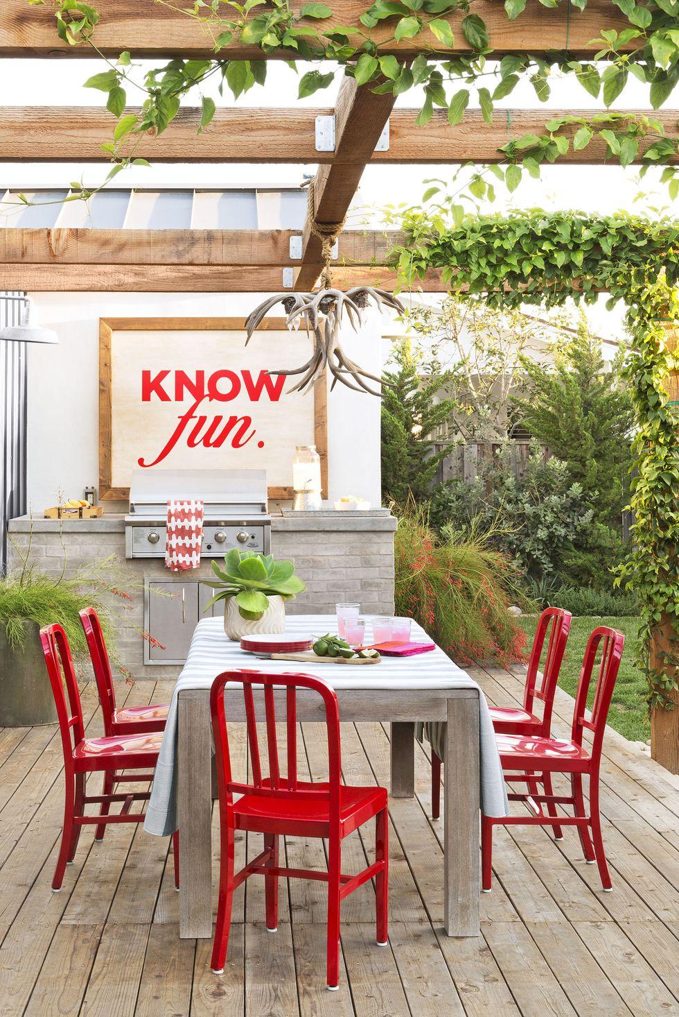 fun outdoor kitchen