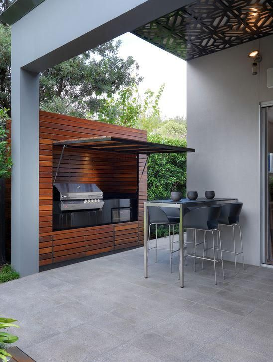 hideaway outdoor kitchen
