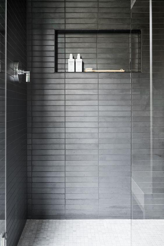 horizontal charcoal tile