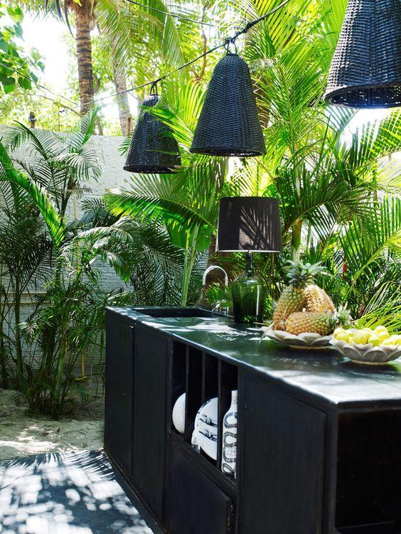 jungle outdoor kitchen