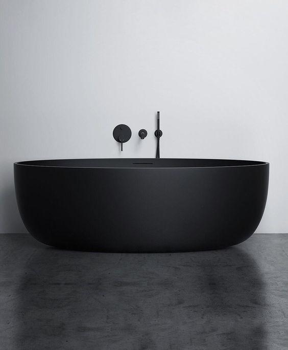 matte black statement bathtub
