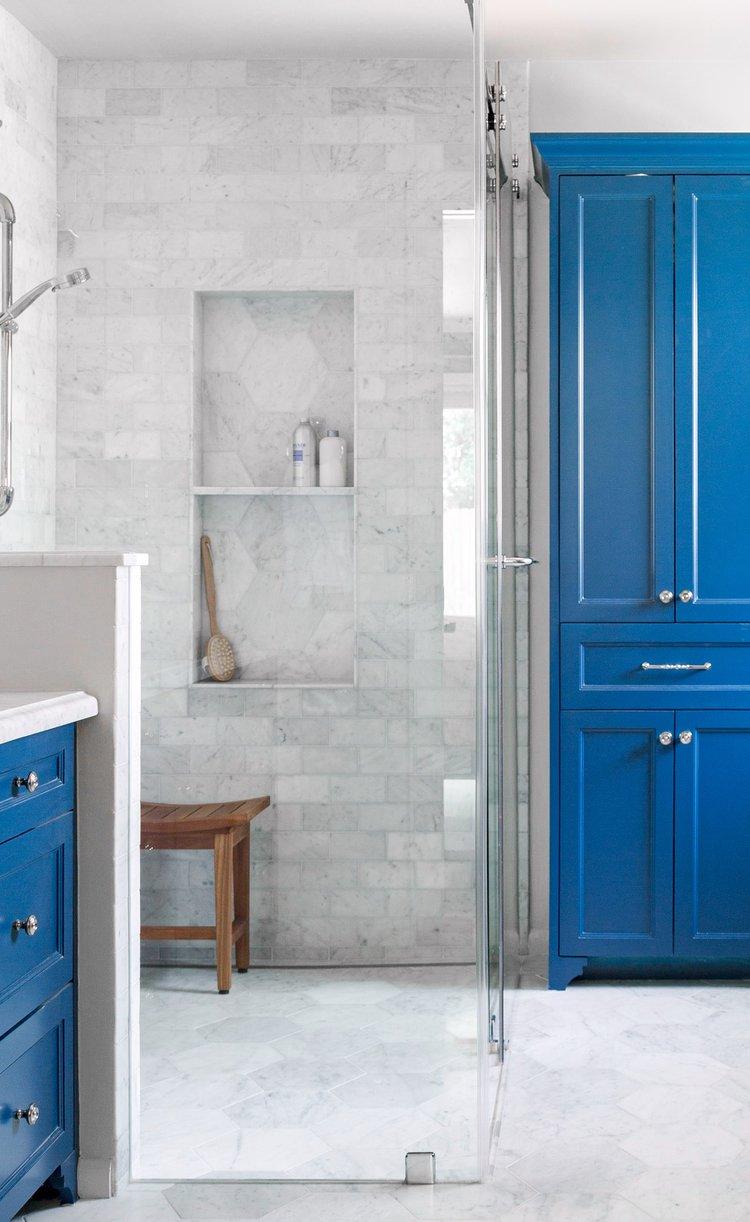 bathroom shower ideas - mix patterns