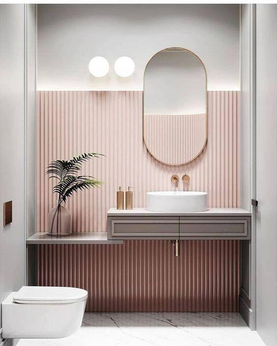 pink panelling