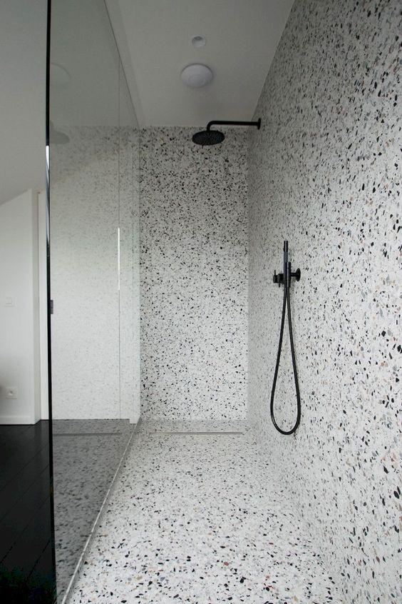 terrazzo shower