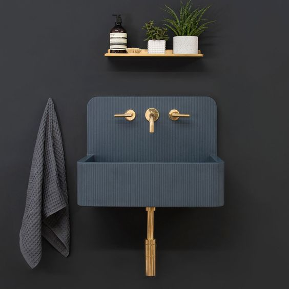 textured surface pattern concrete sink