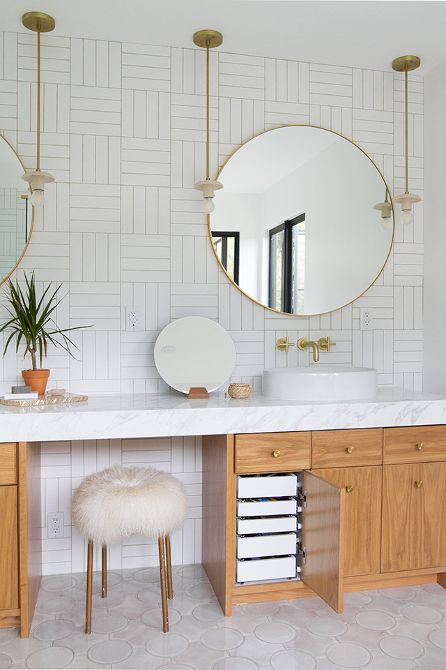 Modern mid century bathroom