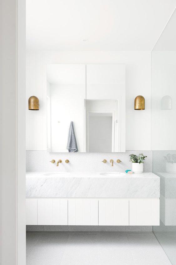 white minimal with brass