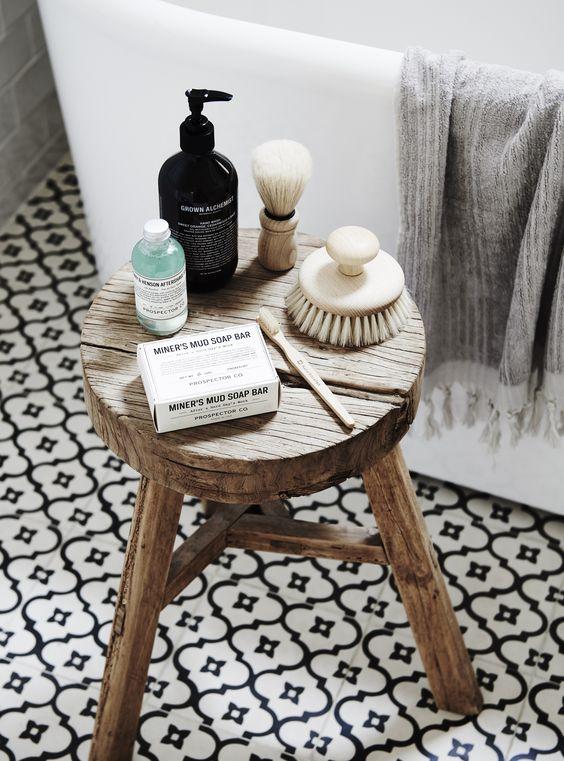 stool in bathroom