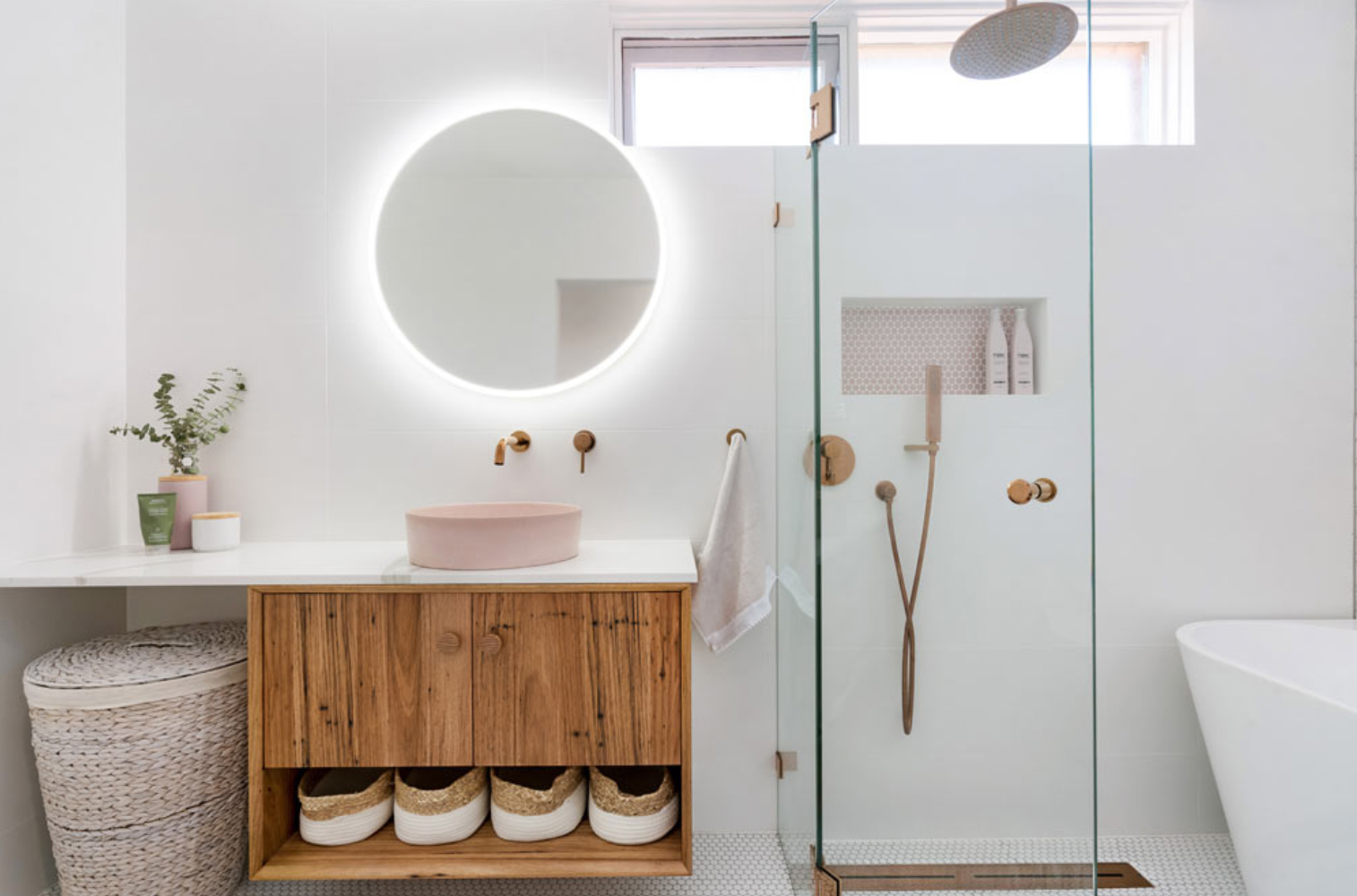 Lights in bathroom